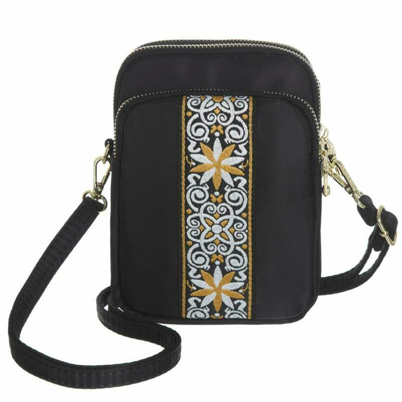 MINICAT Nylon Small Crossbody Bag Cell Phone Purse Smartphon