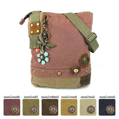 patch crossbody bag 6 colors option detachable