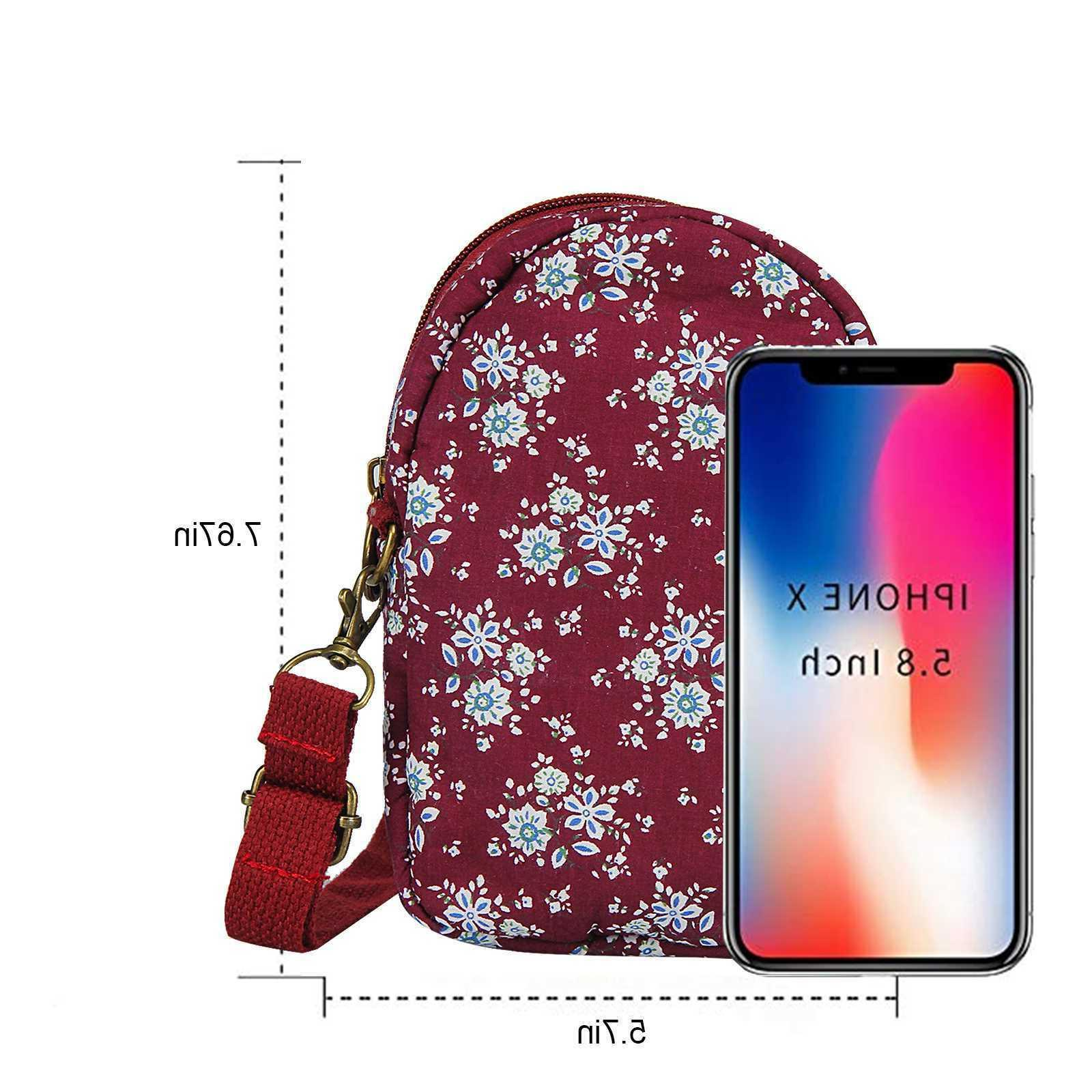 Pattern Wallet Pouch Adjustable Strap Cell