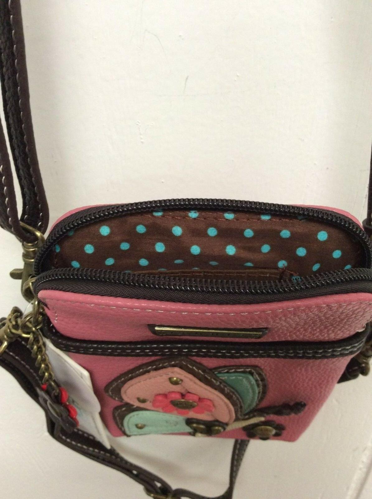 Chala Pink Phone Crossbody Small Convertible Purse New