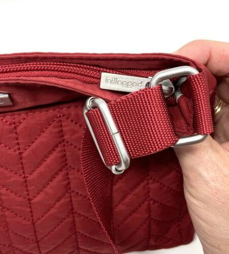 BAGGALLINI Red Quilted Crossbody/Shoulder Bag in Wallet