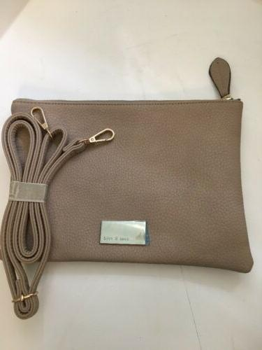 Remi and Crossbody / Tote / Makeup Beige Faux Leather