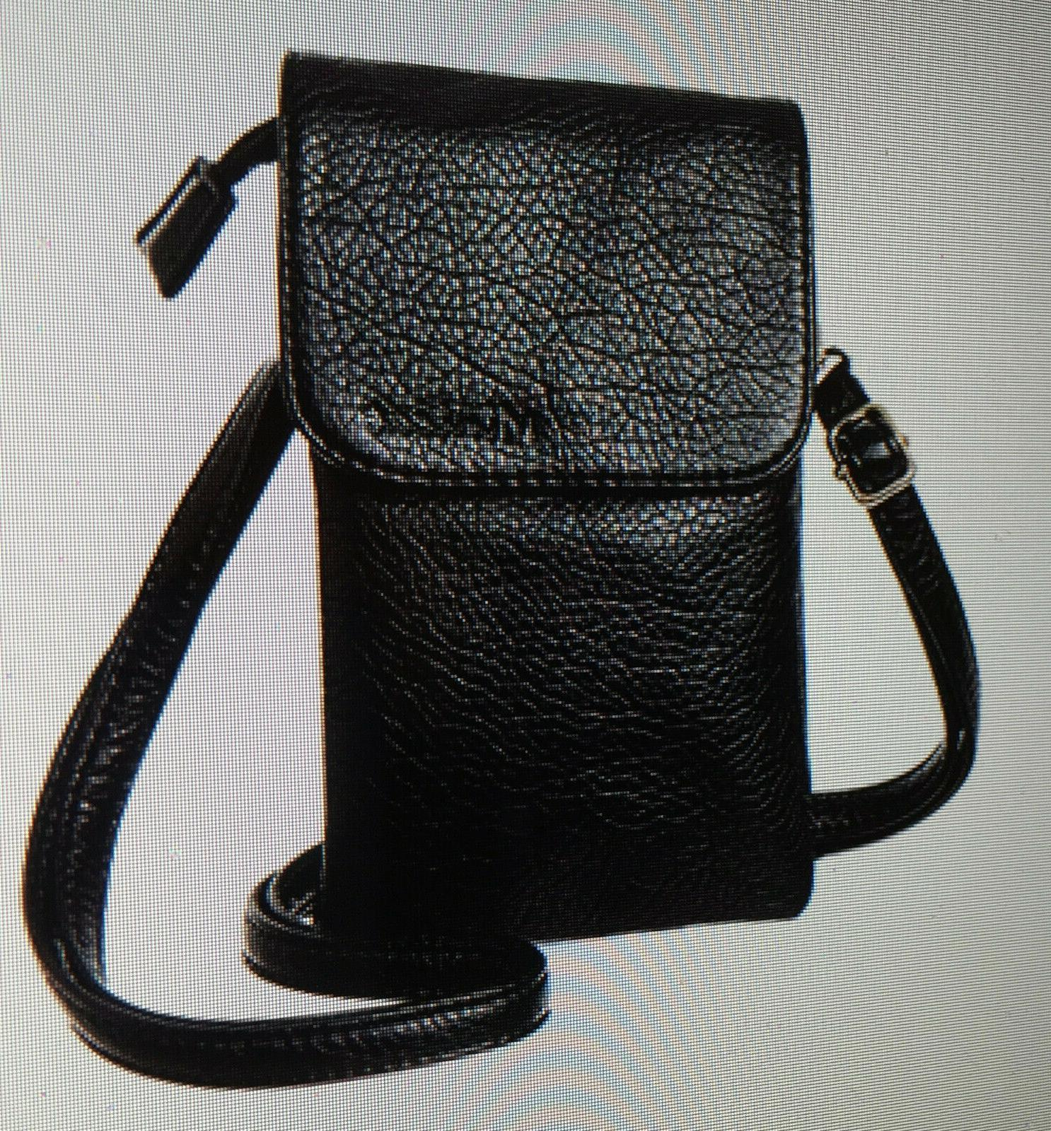 roomy pockets series small crossbody black bag