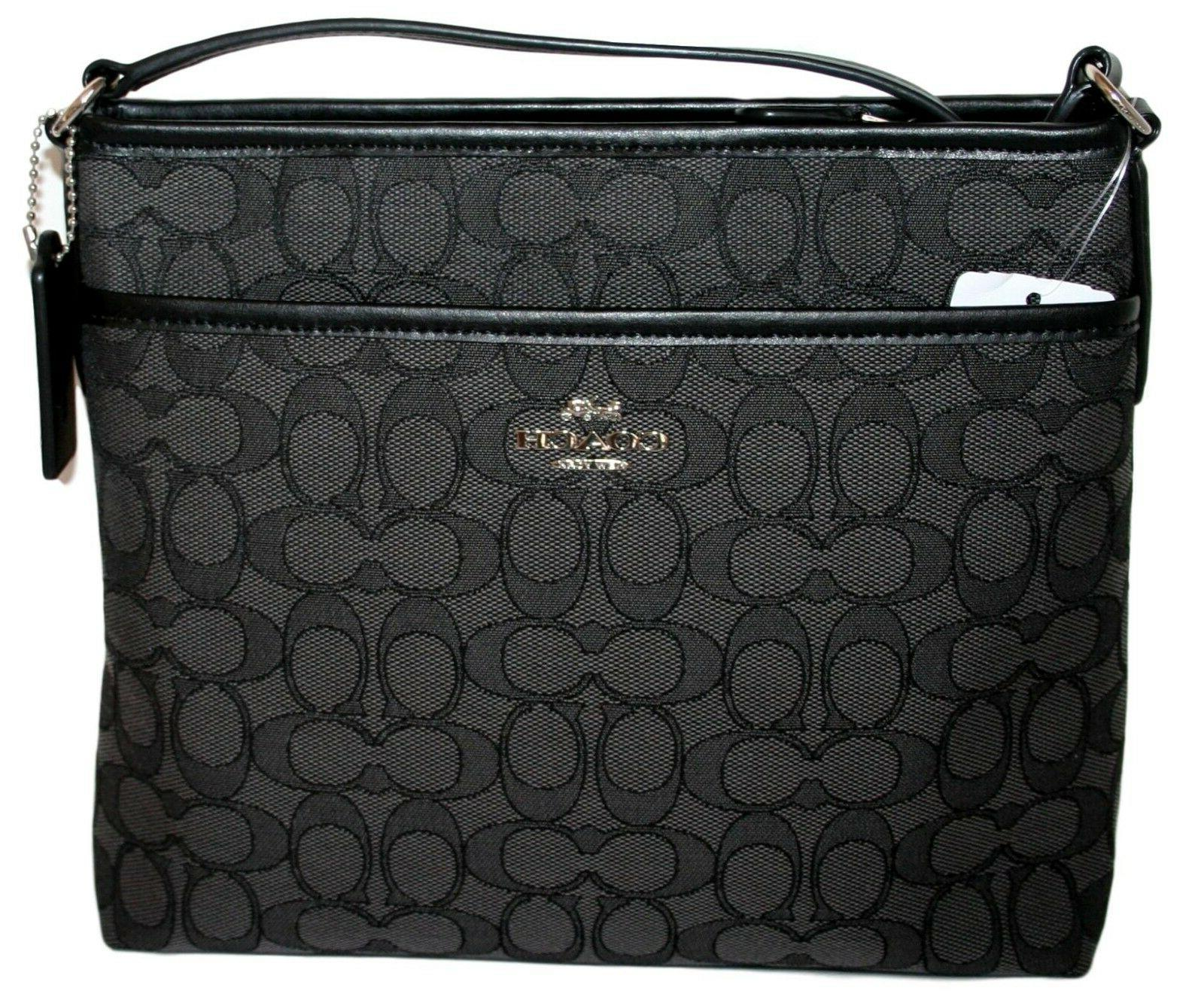 Coach Signature Jacquard File Bag Purse F29960