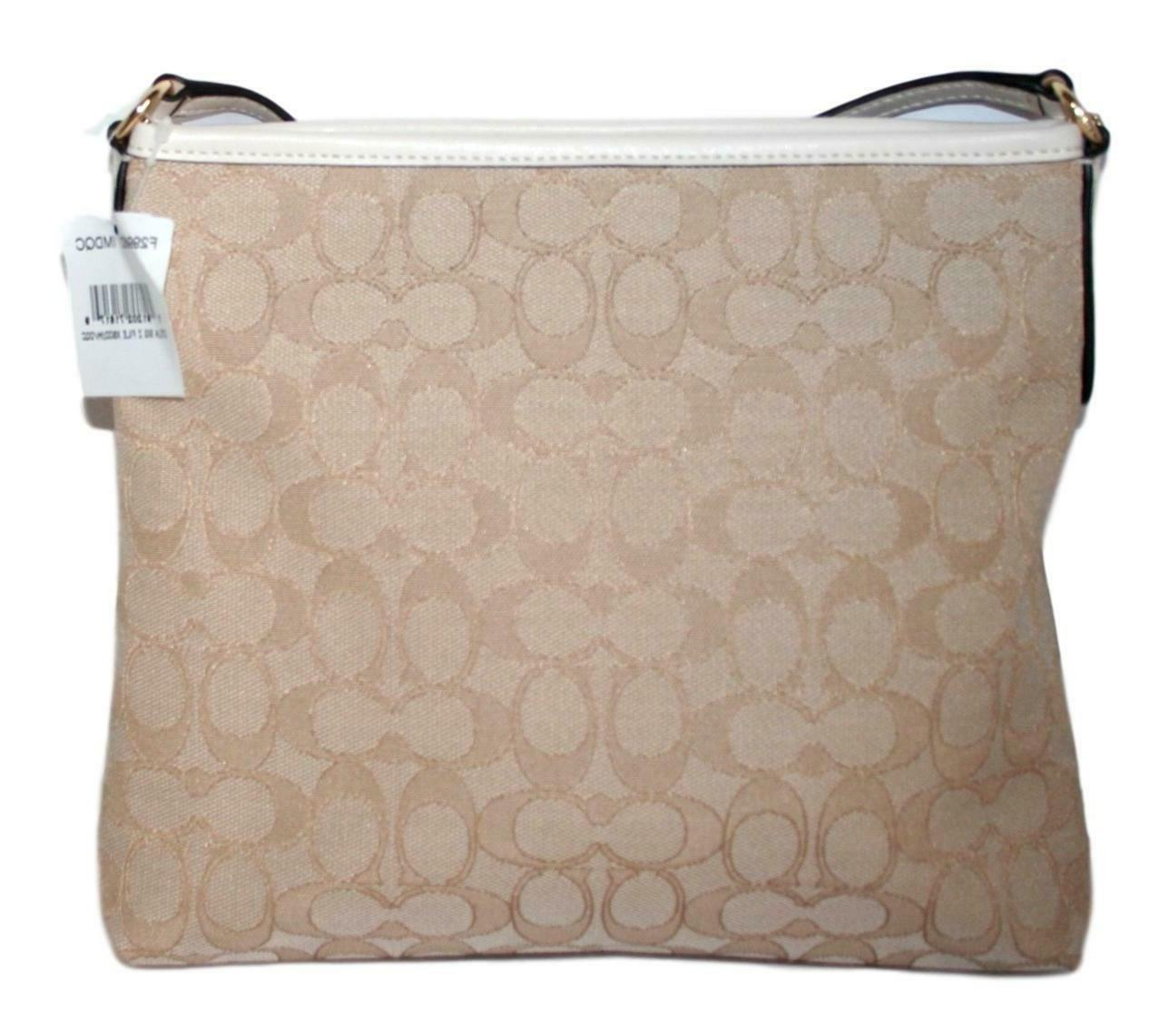 Coach Jacquard File Bag Crossbody Purse Handbag F29960
