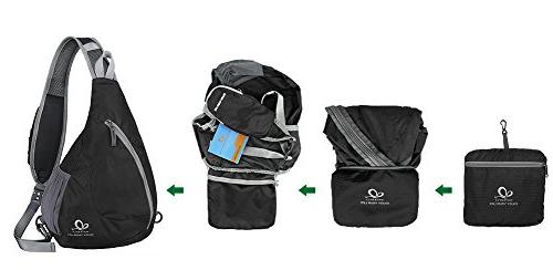 WATERFLY Chest Bags Crossbody Shoulder Packs Daypacks for Cycling Girls Men Women