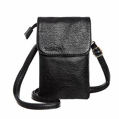 Small Phone Purse Wallet Bag Women Black NEW