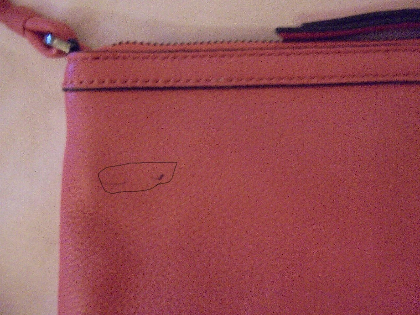 Calvin Small Leather Crossbody Bag Persimmom