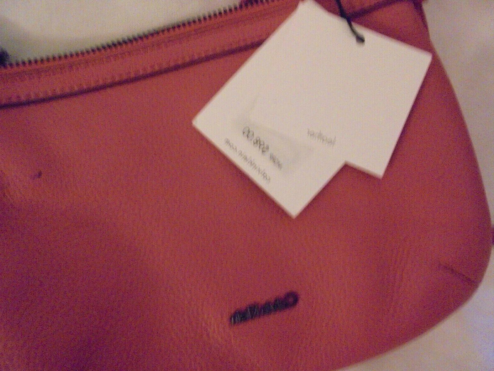 Calvin Klein Leather Crossbody Purse Persimmom