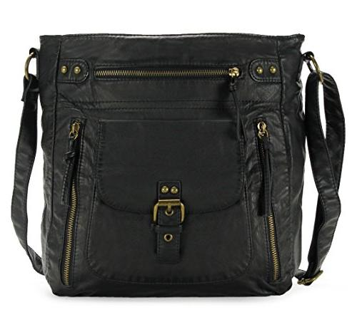 soft penta pocket crossbody bag h200501 black