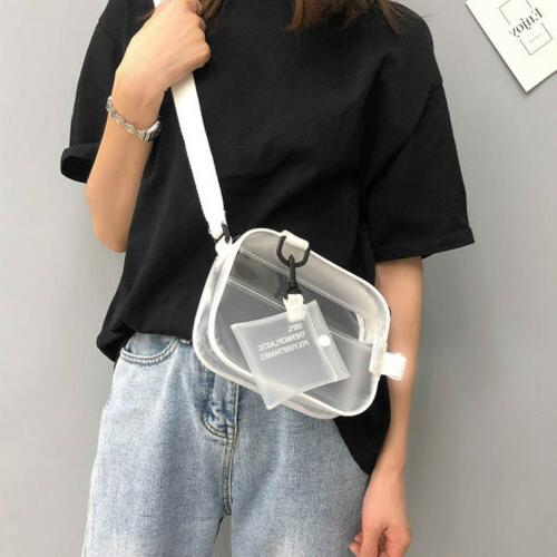 US New Transparent Bag Clear Chain Tote Bags