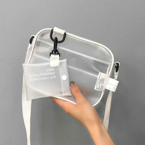 us new women transparent bag clear pvc