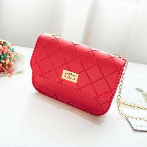 US Women's Handbag Quilted Purse with Chain Shoulder