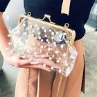 vintage clutch pearl beaded transparent chain luxury