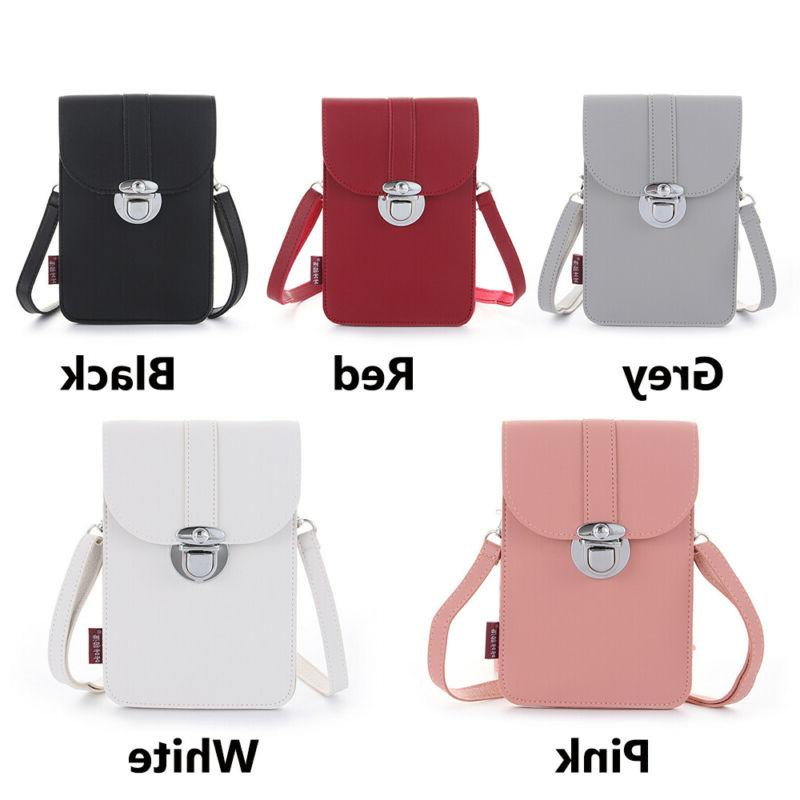 5 Styles MIni Retro Buckle Leather Screen Crossbody Phone Bag
