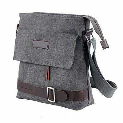 Mfeo Vintage Retro Canvas Messenger Bag Cross-Body Bag Small