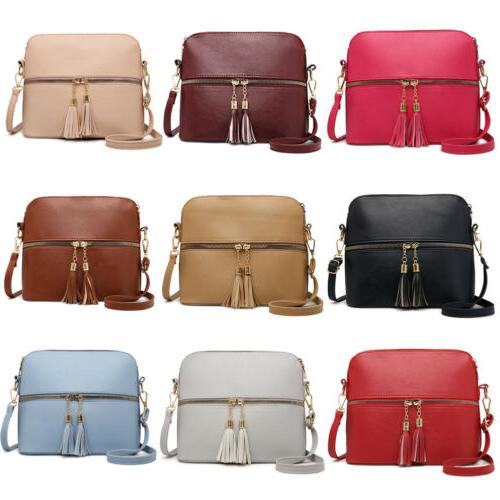 Women Leather Satchel Shoulder Bag Ladies Messenger
