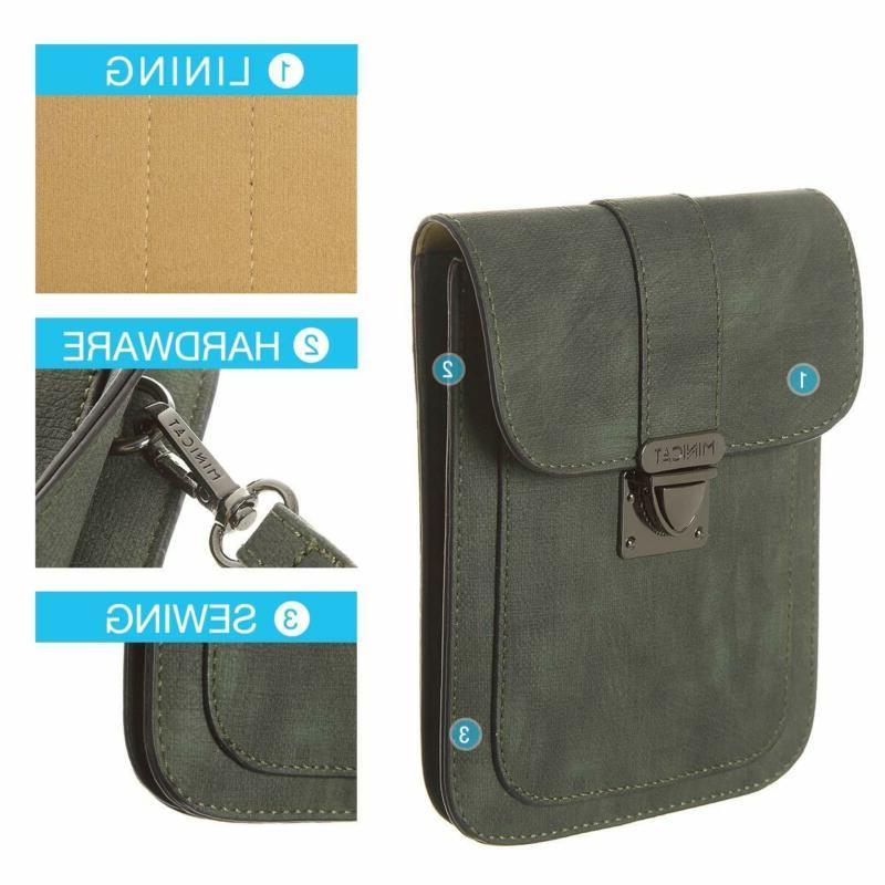 Minicat Women Card Slots Small Synthetic Leather Cell Pho