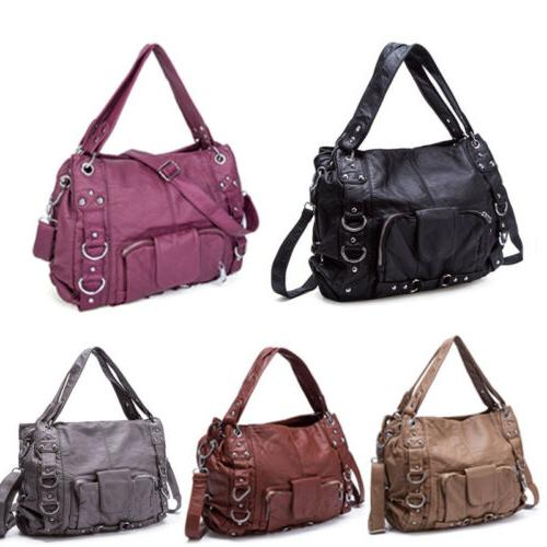 Women Soft Leather Handbag Shoulder Messenger Bag