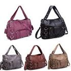 women ladies soft washed leather handbag crossbody