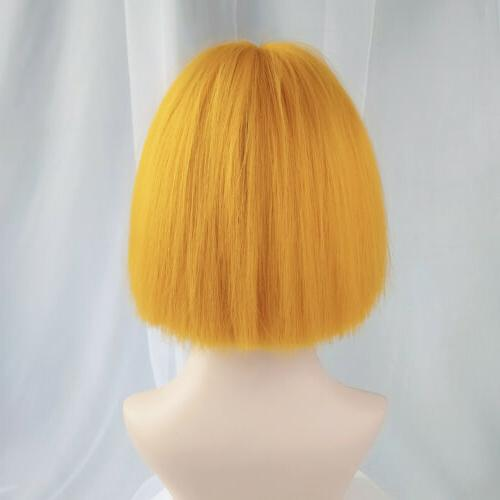 Women Lady Black Ombre Short Bobo Full Wigs Cosplay Party