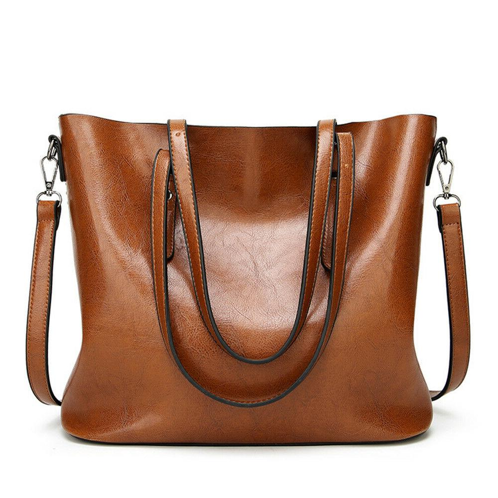Women Leather Ladies Purse Messenger Crossbody Tote