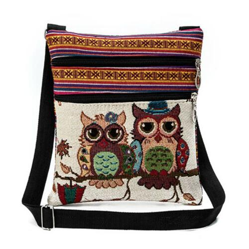 Women Owl Crossbody Satchel Purse Handbag