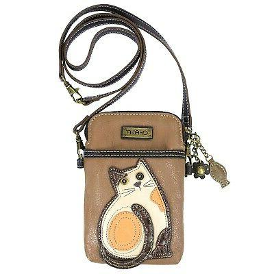 Chala Cat 3-in-1 Crossbody Bag - Black or Brown Faux Leather