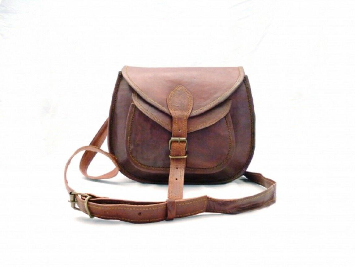 women s genuine brown perfect leather messenger