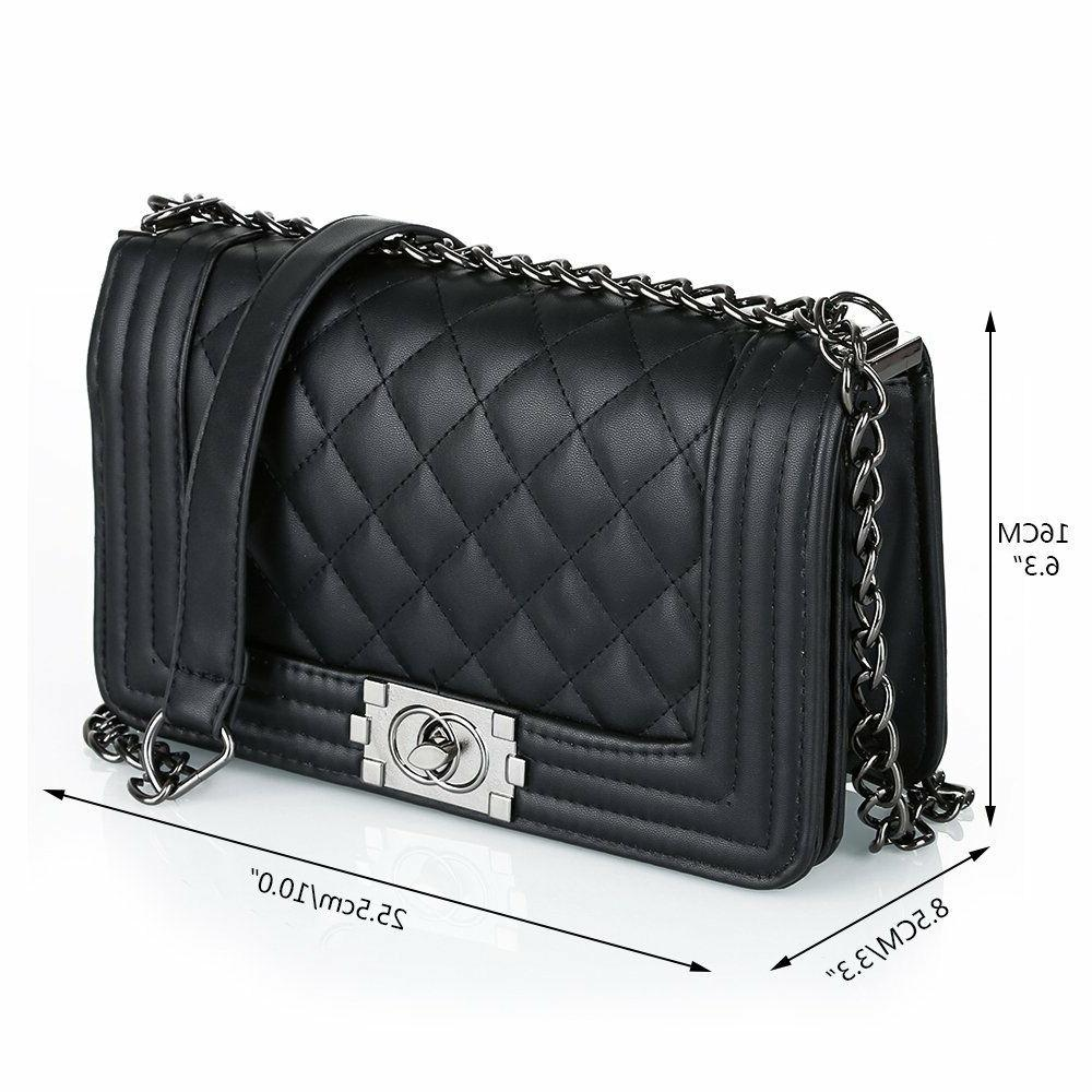 Women's Quilted Chain Bag Crossbody Handbag Ladies