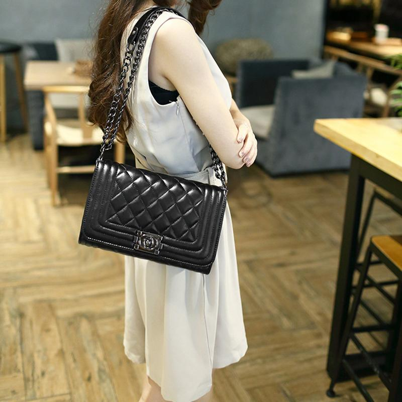 Women's Black Bag Leather Bag Crossbody