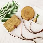 women summer new round straw bags rattan
