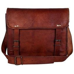 Lawyers Briefcase Attorney Courier Bag For Men Vintage Leath