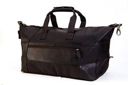 Leather Travel Duffel Bag Overnight Weekend Luggage Carry On