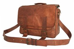 15 Inch Leather Vintage Rustic Crossbody Messenger Courier S