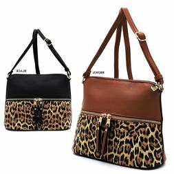 leopard zipper dome crossbody bag leopard animal