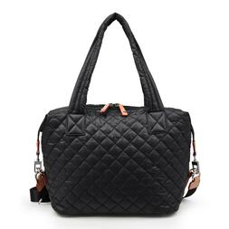 lightweight black or gray quilted tote lightweight crossbody