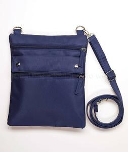 Lightweight Rfid Crossbody Bag Purse - Navy Blue