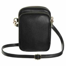 Lightweight Small Crossbody Bag With 3 Compartments for Wome