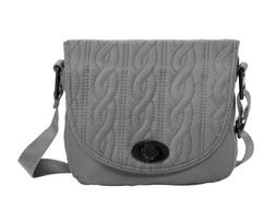 Baggallini Luggage Delight Mini Satin Quilted Crossbody Bag,