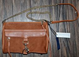 Rebecca Minkoff MAC ALMOND Large Suede Leather/Gold Crossbod