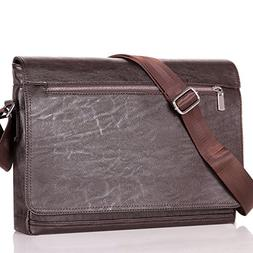 Men Bags Brown Laptop Computer Messenger Bags Leather Briefc