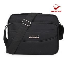Men Black Cross Shoulder <font><b>Bag</b></font> Nylon Casua