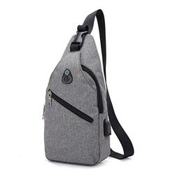 Pocciol Men Love Bags, Lightweight Soft Casual Canvas Unbala