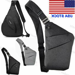 Men's Women Nylon Crossbody Shoulder Chest Cycle Sling Bag D