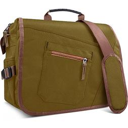 "Qipi Messenger Bag - Shoulder Bag for Men & Women, 15"" Lapto"
