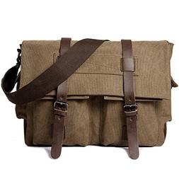 Messenger Bag, Cambond Canvas Laptop Satchel Bag Vintage 14""