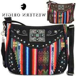 Native Tassels Crossbody Handbag Women Concealed Carry Purse