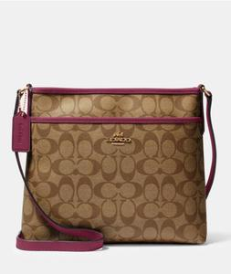 New Authentic Coach F29210 File Bag Crossbody Messenger Hand