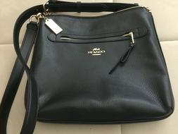 New Authentic Coach F34823 Pebble Leather Mae Crossbody Purs